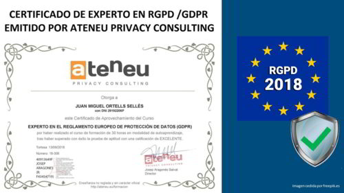 Certificado Ateneu + RGPD