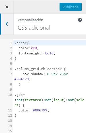 CSS adicional